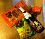 trader joe's sake and snacks